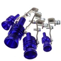 silenciadores de tubos de escape universais venda por atacado-23 milímetros M Azul da tubulação Whistle som de apito Turbo Whistle Moda Universal blowoff Exhaust Muffler Simulator