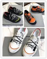 karışık renk örgüler toptan satış-Sıcak Lüks dikenli taban Rahat Ayakkabılar Erkekler Tasarımcı Urchin Sneakers çift fermuarlar dantel-up dokuma moda sneakers ...