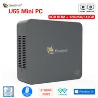 Wholesale intel i3 china resale online - Beelink U55 Mini PC Windows10 Intel Core I3 U G G Dual Wifi GB DDR3L GB GB SSD HDMI Dual Screen Mini Computer