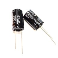 5PCS 47UF 47mfd 250V Electrolytic Capacitor 105 degrees USA FREE SHIPPING
