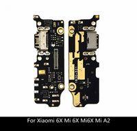 puerto usb pcb al por mayor-Para Xiaomi 6X Mi 6X Mi6X Mi A2 Conector Dock USB PCB Cargador Junta de puertos Cinta USB Flex Cable con micrófono