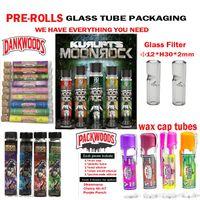 vollrohr großhandel-Volle Typen Joint Prerolls Glasrohrverpackungen Dankwoods Packwoods Moonrock Pre-Roll-Verbindungen Cork Tubes Prerolls Topshelf Rolled Joints