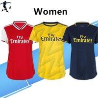 venda de uniformes de meninas venda por atacado-Lady Jersey 2020 Artilheiro casa Mulheres de Futebol 19/20 Feminino camisas de futebol afastado Fardas menina do futebol terceiro azul profundo Para venda