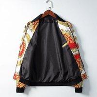 chaqueta de metal con cremallera al por mayor-2019 chaqueta de diseñador para hombre de lujo Paris Medusa cadena de flores color tigre estampado Cremallera de metal Ropa Collar de manga larga Hombres Mujeres V68