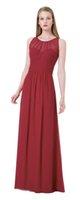 gasa junior vestidos de dama de honor rojos al por mayor-Grace Red gasa Scoop Junior dama de honor vestidos de dama de honor vestidos de boda fiesta de baile vestidos personalizados tamaño 2-18 KF101432