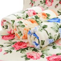 bad gesicht blumen großhandel-34 * 75 cm Weiche Baumwolle Gesicht Blume Handtuch Bambusfaser Schnell Trockene Handtücher Blumen Bad Gesicht Handtuch Außerordentlich