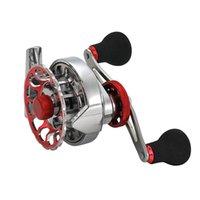 nuevos carretes al por mayor-Nueva rueda de balsa de pesca 3.6: relación de 1 velocidad Full Metal izquierda derecha carrete de pesca aparejo 10 + 1 rodamiento más fuerte herramientas de carrete de pesca