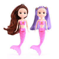 Wholesale mermaid doll toys resale online - Doll cm Children Educational Intelligence Family Crossing Dolly Creative Small Mermaid Princess Model Toys Factory Direct Selling jh p1