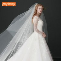Wholesale brides veil accessories for sale - Group buy Gorgeous Meter Ivory Bridal Veils Tulle Soft Cathedral White Bride Veil With comb cm Long Wedding Accessories In