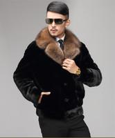 Black man jackets autumn faux mink leather jacket mens winter thicken warm fur leather short coat men jaqueta de couro fashion