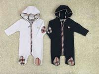 macacões de roupas de bebê venda por atacado-B roupas com capuz recém-nascido macacão terno roupas de bebê meninas hoodie roupas de bebê roupas de algodão Romper conjunto novo