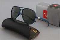 Wholesale aviators sunglasses blue lens resale online - Luxury Rays Brand Polarized Sunglasses Men Women Pilot Sunglasses UV400 Eyewear Aviator Glasses Driver Bans Metal Frame Polaroid Lens