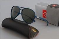 lente de aviador al por mayor-Rayos de lujo de marca gafas de sol polarizadas de los hombres de las mujeres piloto gafas de sol UV400 Gafas Gafas de piloto conductor Bans metal Polaroid marco de la lente