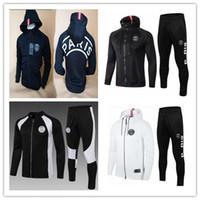 chándal psg al por mayor-2019 PSG chaqueta de fútbol de chándal 18-19 psg sudadera con capucha MBAPPE CAVANI DANI ALVES Liga de campeones de París, entrenamiento de la chaqueta de fútbol Sudadera