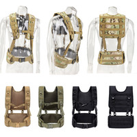 Wholesale assault tactical carrier vest for sale - Group buy Outdoor Sports Airsoft Gear Molle Pouch Bag Carrier Camouflage Combat Assault Molle Vest Tactical Chest Rig NO06