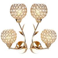 кристалл настенные лампы современные оптовых-AC85-285V E27 Creative Crystal LED Wall Light Decorative Lighting Sconce Modern Wall Lamp