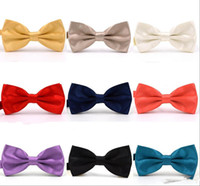 Wholesale burgundy bow ties resale online - 2019 Trumpet Solid Colors Bow Ties For Weddings Fashion Man And Women Neckties Mens Bow Ties Leisure Neckwear Bowties Adult Wedding Bow Tie