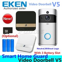 Wholesale video intercoms for homes for sale - Group buy V5 Smart Video Intercom Video Door Phone Door Bell WIFI Doorbell Camera For Home IR Alarm Wireless Security Camera