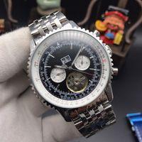 relógios automáticos suíços de qualidade venda por atacado-2019 famoso relógio dos homens suíços de negócios de moda relógio automático de máquinas automáticas todos os relógios de aço inoxidável de alta qualidade mens Tourbillon