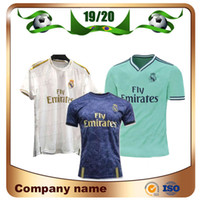 madrid mavi toptan satış-2019 Real Madrid # 7 TEHLİKE # 10 MODRİK Futbol Forması 19/20 Deplasman Mavi SERGIO RAMOS BENZEMA MARCELO Futbol Forması ASENSIO ISCO Futbol forması