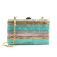 ingrosso borsa di colore della perla-Borse a tracolla per donna in acrilico a righe color muti color perla Borse a tracolla Pochette Pochette Ragazza Bolsas Borse Feminina