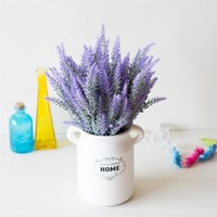 ingrosso moda per il fiore artificiale domestico-Lavanda Wedding Artificial Flowers Fotografia Purple Pink Romantic Ristorante Silk Display Fake Flower Fashion Simple Home Decor 1 5xsD1