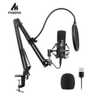 Wholesale kit karaoke for sale - Group buy Maono Usb Microphone Kit khz bit Professional Podcast Condenser Microphone For Pc Karaoke Youtube Studio Recording Mikrofon T190704