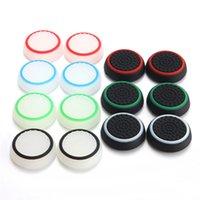 xbox one for sales venda por atacado-Hot sale gamepad joystick set branco luminoso silicone tampa de proteção cap slip para ps4 ps3 xbox 360 um