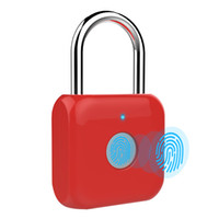 Wholesale fingerprints lock resale online - 2019 Smart Padlock Fingerprint keyless USB rechargeable door lock Security