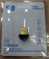 ingrosso bluetooth per il desktop-USB 5.0 Bluetooth Adapter Portable Suit Wireless Audio ricevitore del dongle per PC Headset computer portatile del telefono tastiera mouse 100pcs / lot