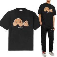 ayılar gömlek kadınlar toptan satış-19AW PALM MELEKLER Öldürmek Ayı T-shirt Lüks Avrupa Moda Boy Kısa Kollu Pamuk Kadın Çift Erkek Tasarımcı T Shirt HFWPTX360