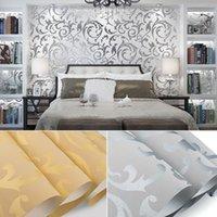 europäischer stil tapeten rollen großhandel-Vliestapete im europäischen Stil Klassische Tapetenrolle Wandverkleidung Luxus Tapete Floral