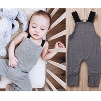 Wholesale boys 24 month onesies resale online - Newest Baby Infant Boys Girls Overalls Rompers Baby s Trendy Sleeveless Knitted Jumpsuit in Grey Sleeveless Newborn Jumpsuits Onesies T