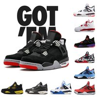 fb631ab2790c Wholesale Basketball Shoes 4s White cement 4s Fire Red 4 Green Glow Oreo  FEAR TORO BRAVO ABOVE With Box Top chaussures man trainer