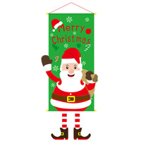 Wholesale hanging santa flags for sale - Group buy Party Window Reusable Gifts Banner Christmas Ornaments Home Santa Claus Door Wall Flag Hanging Decoration Cloth