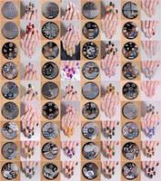 hehe çivi toptan satış-36 ADET Damgalama Manikür Görüntü Nail Art Resim Damga Şablon Aracı Plaka Lehçe (hehe 1-36designs) HEHE Görüntü Plakası