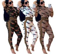 alfabeto f al por mayor-Caja de ropa femenina europea y americana de moda F Alfabeto ruso con cremallera traje dos juegos de multicolor opcional