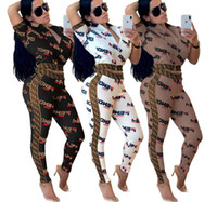 f alfabeto venda por atacado-Europeu e americano da moda feminina caixa de roupas F alfabeto russo zíper terno dois conjuntos de multi-cor opcional