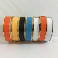 bracelete de esmalte de prata venda por atacado-12mm de Luxo Cuff BraceletsBangles Pulseira Esmalte Pulseira H Fivela de Prata Top qualidade Pulseiras Para As Mulheres