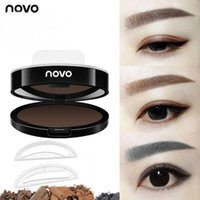 ingrosso bacio timbro-Brow Stamp I ENVY BY KISS Sopracciglio in polvere NOVO Stamp Seals Makeup Eyes Brow Timbro Palette Delicated Eye Shadow Sopracciglio con pennello