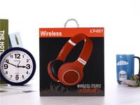 ipad kulaklıklar bluetooth toptan satış-Kablosuz Kulaklıklar Bluetooth Kulaklık Stereo Oyun Kulaklık IPad Cep Telefonu Için Mikrofon Desteği TF Kart Ile