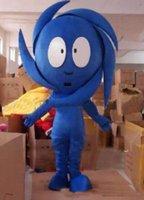trajes do epe venda por atacado-2019 Alta qualidade quente Azul Tornado Traje Da Mascote Fancy Dress Outfit EPE EMS frete grátis