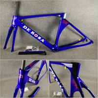 Wholesale 56cm bikes for sale - Group buy T1000 UD Glossy Blue painted Direct mount brakes De rosa SK carbon road bike Frames cm