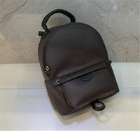 Wholesale casual backpacks for sale - Group buy Hot Hight quality Women s Palm Springs Backpack Mini genuine leather children backpacks women printing leather backpack