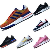 Wholesale cushion ball resale online - 2019 ZX500 RM Leather and Mesh Breathable Running Shoes Dragon Ball Consortium ZX RM Cushioning Sports Shoes