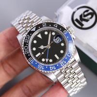 magnificar relógios venda por atacado-KS mens relógios Montre de luxo relógio de luxo anti-reflexo convexo ampliação calendário janela 2836, 3135 relógios mecânicos automáticos 40mm