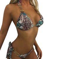 ingrosso bikini per le donne più grandi-Bikini 2019 Donne Sexy Plus Size Stampa Tankini Swimjupmsuit Costume da bagno Costumi da bagno Costumi da bagno imbottiti Costume da bagno Bagnanti Femmina Z0529