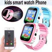ingrosso guardare gsm sos-Nuovo orologio Hot Smart con localizzatore GSM Screen Tracker SOS per bambini Bambini Dispositivi indossabili inglese relogio inteligente
