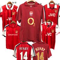 camisetas de fútbol v al por mayor-Arsenal retro Soccer Jersey Henry football uniform 05 06 Camisetas de fútbol Camisetas retro PIRES HENRY V. Persie Fabregas Rosicky REYES VIEIRA BERGKAMP fútbol