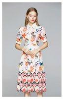 Wholesale fashion world dresses resale online - Ocean World Printing Dresses Fashion New Women s Sliming Dress Short Sleeve Lapel Neck Lady s Summer Shirt Dress